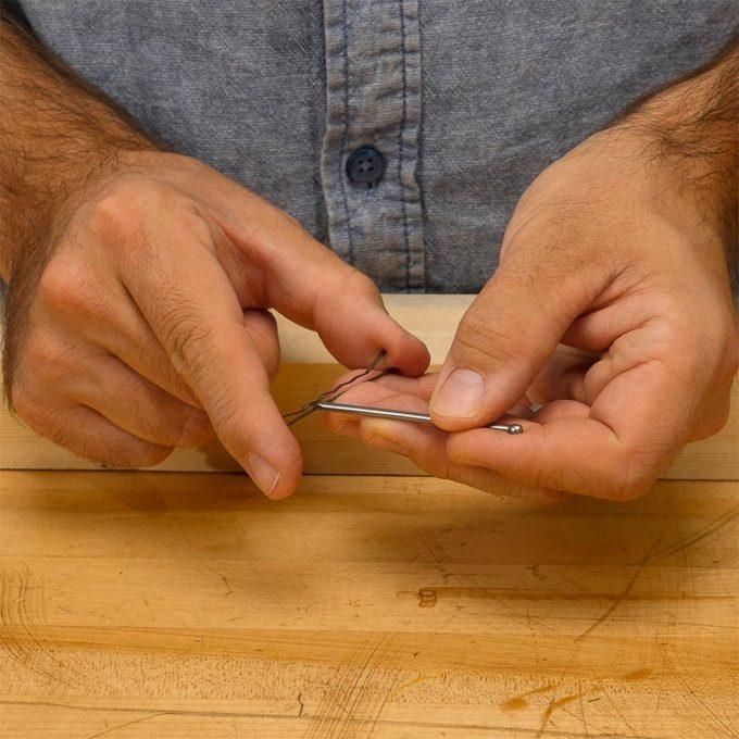 putting nail in bobby pin