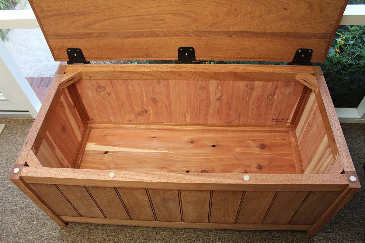 billy keith storage bench interior