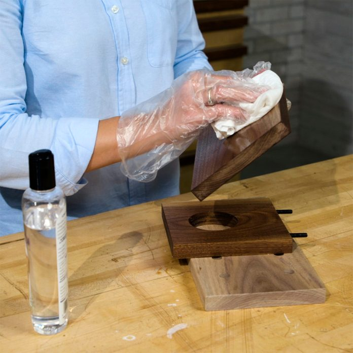 pour-over coffee maker apply cutting board oil