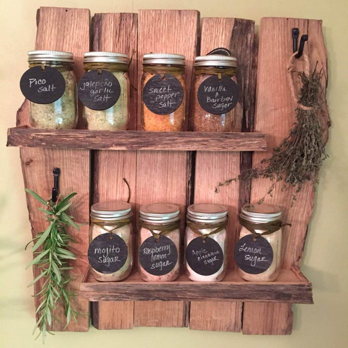 Reclaimed Wood Spice Rack