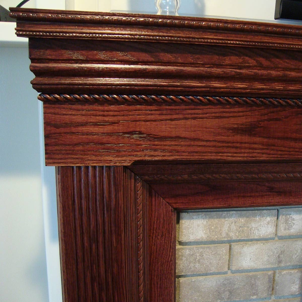 reader fireplace surround detail of corner