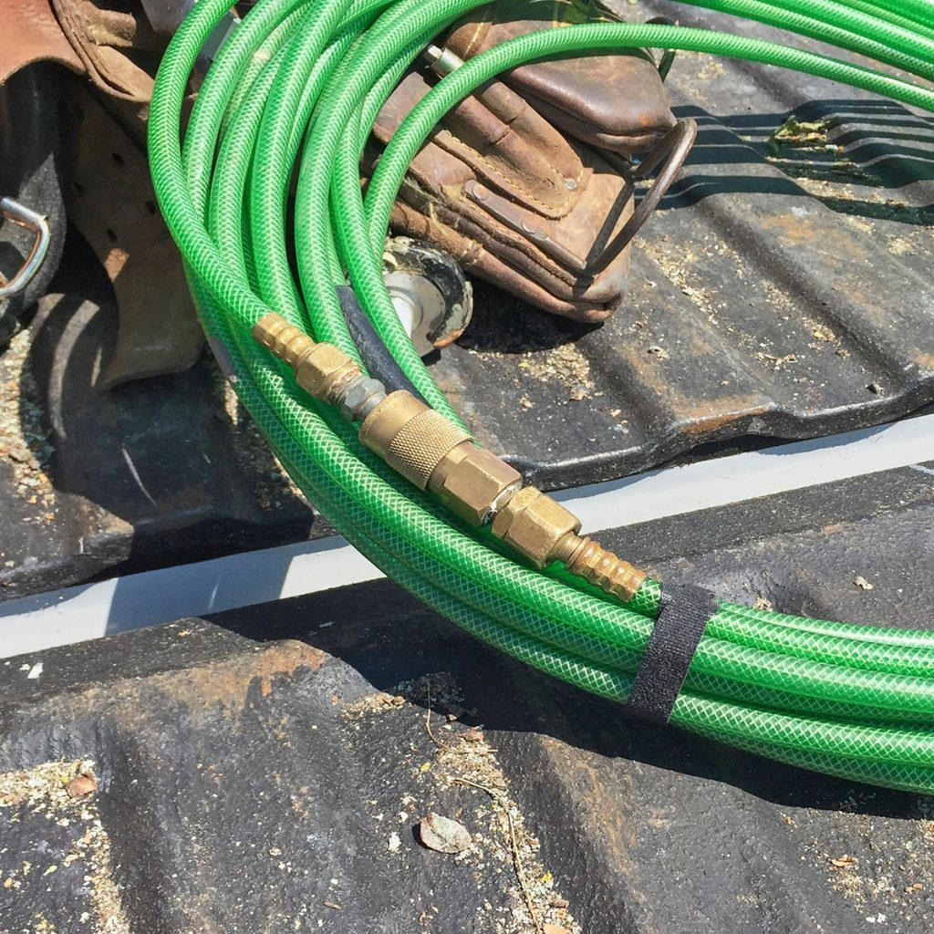 Hoses connected by male/female ends | Construction Pro Tips