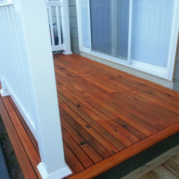 finished photo of recycled ipe brazillian decking