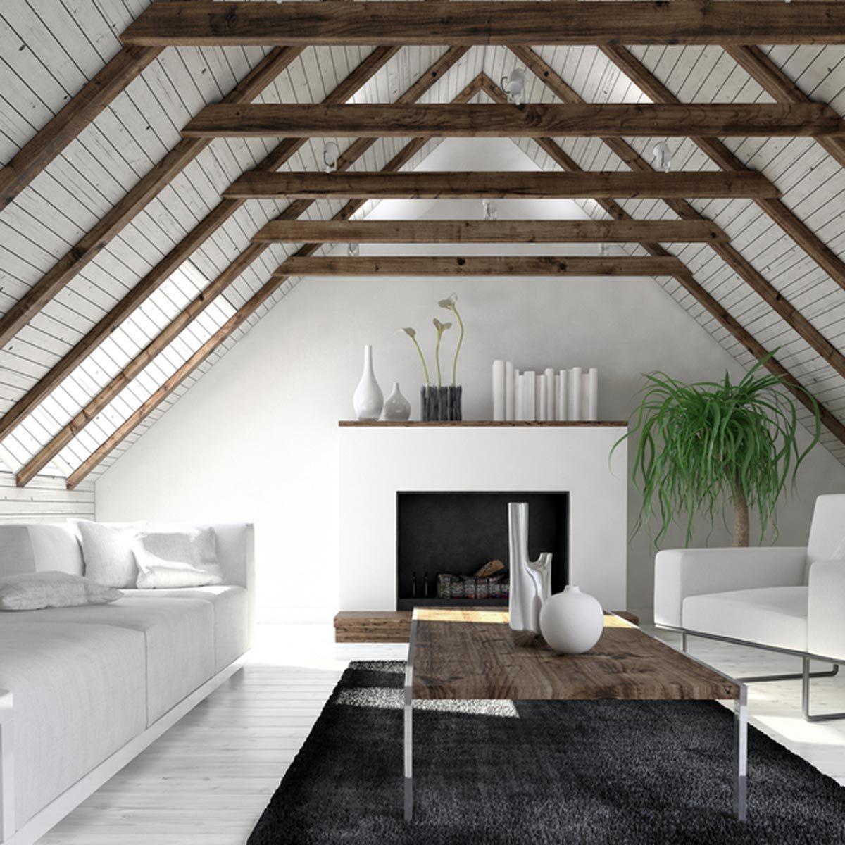 shutterstock_658288036-attic-1200x1200 attic space living room exposed beams