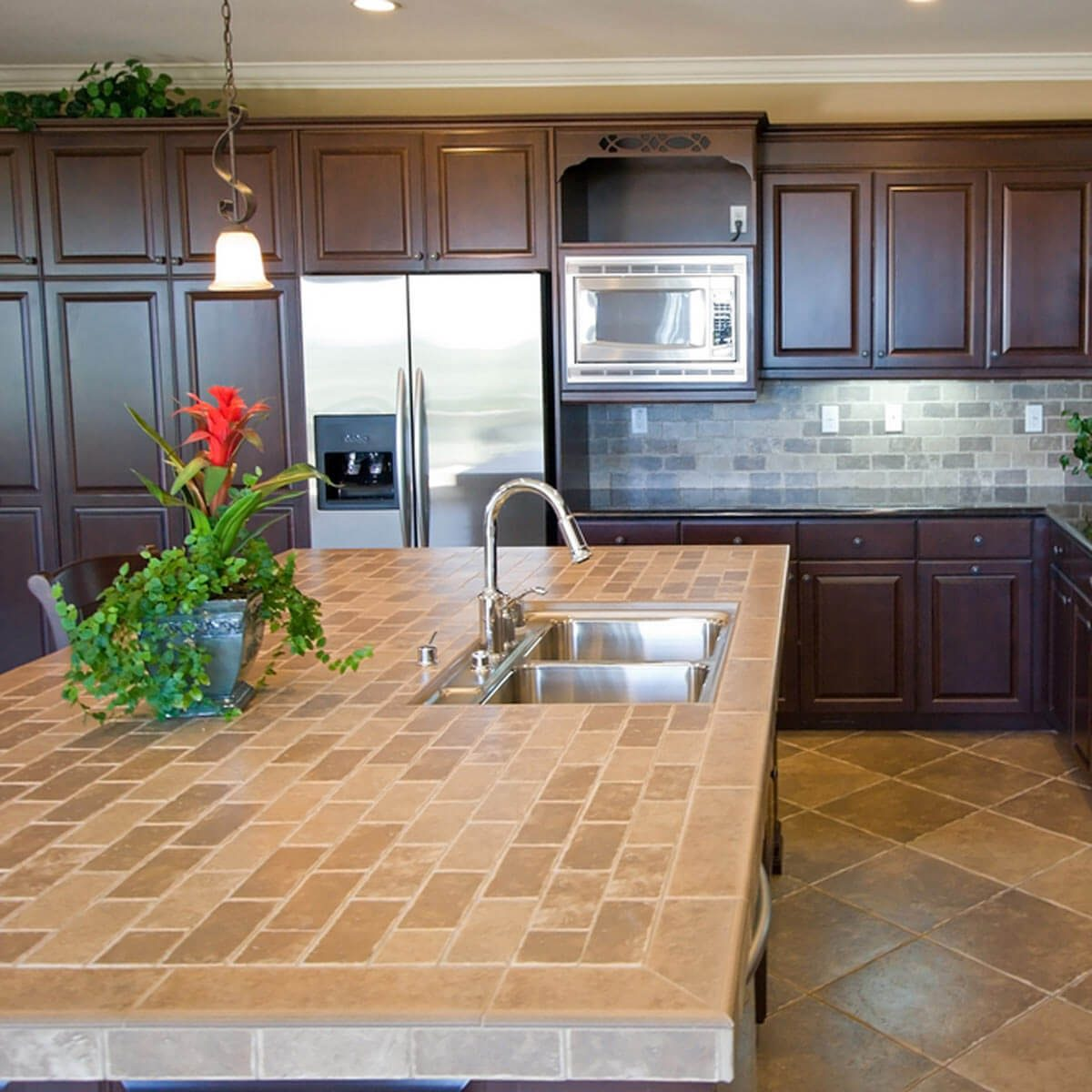Cheap Kitchen Countertops Alternatives: Tile