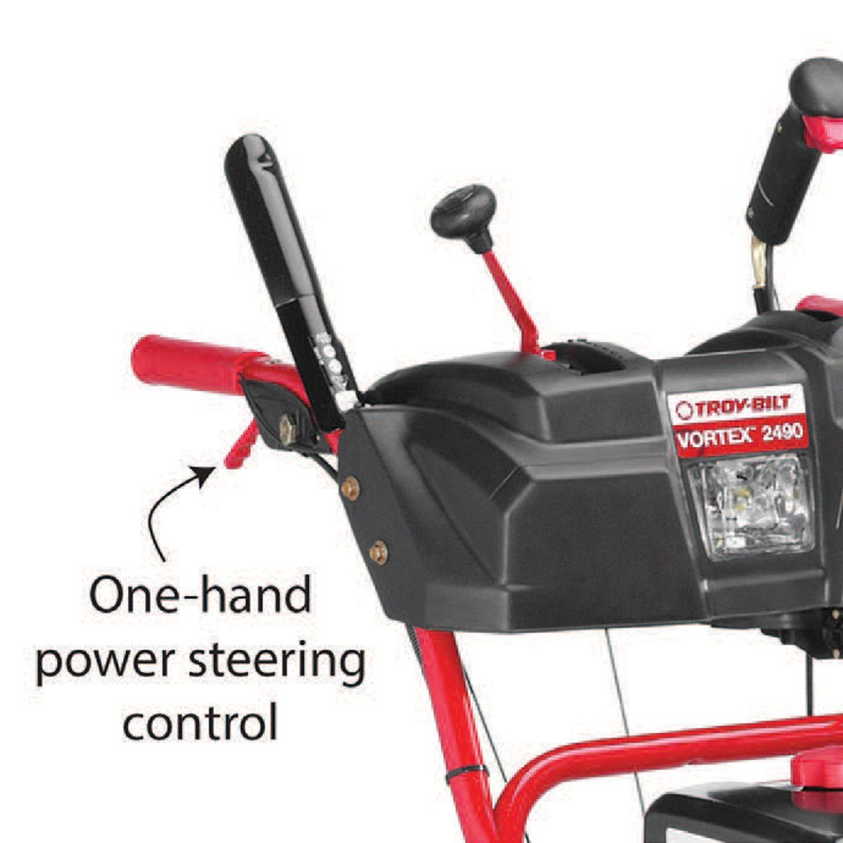 Power steering saves your back and makes the job easier