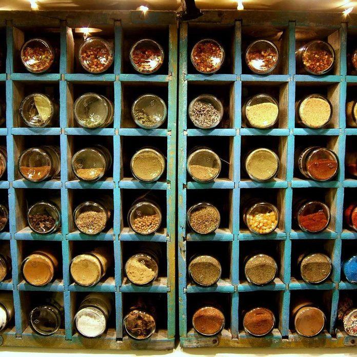 Soda Bottle Crate Spice Rack