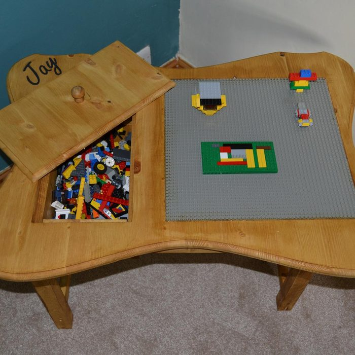 Personalized Homemade LEGO Table