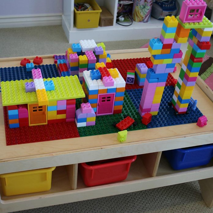Multi-Purpose LEGO Building Table with Storage