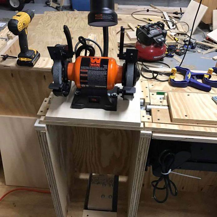 flip-top workbench