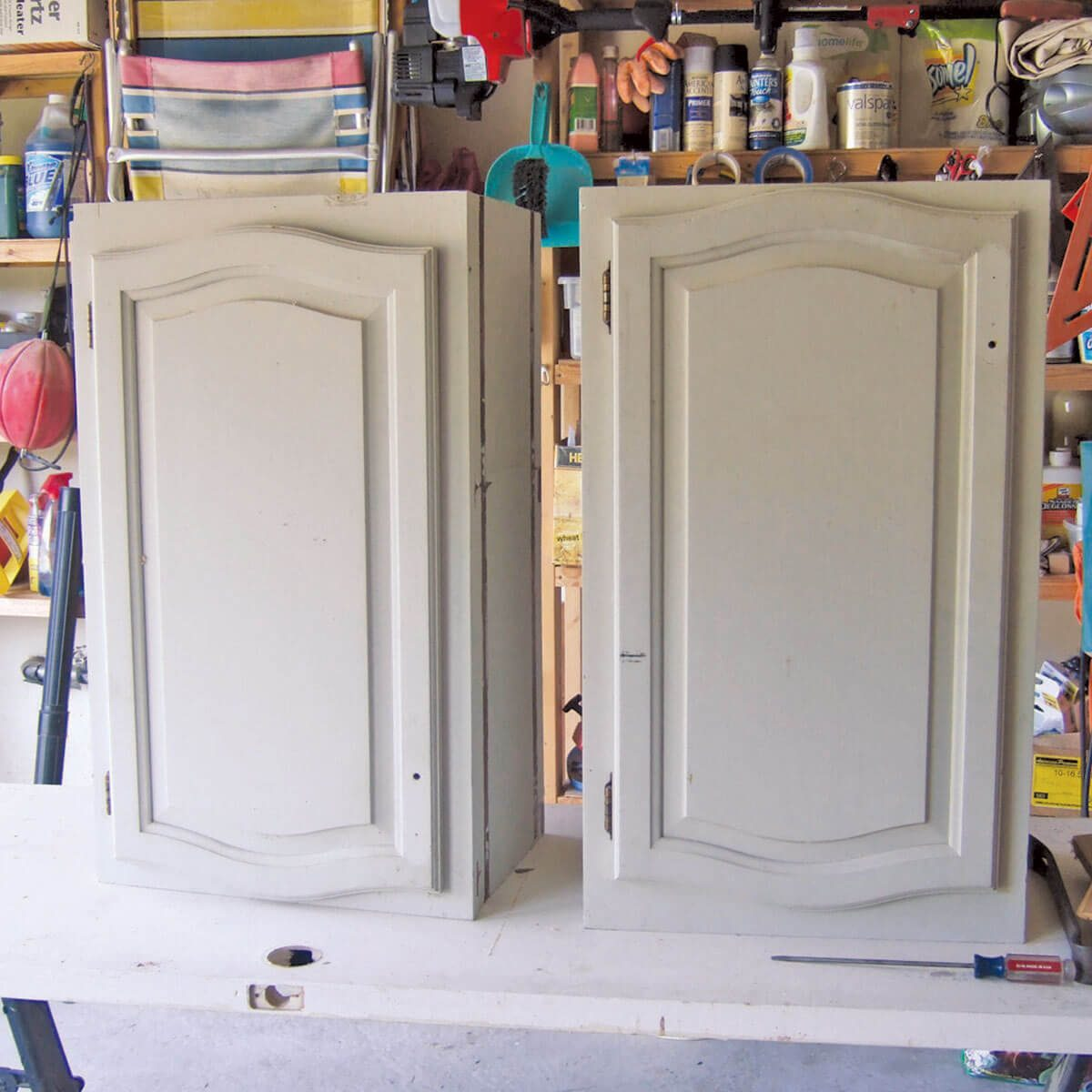 Repurposed second-hand cabinets