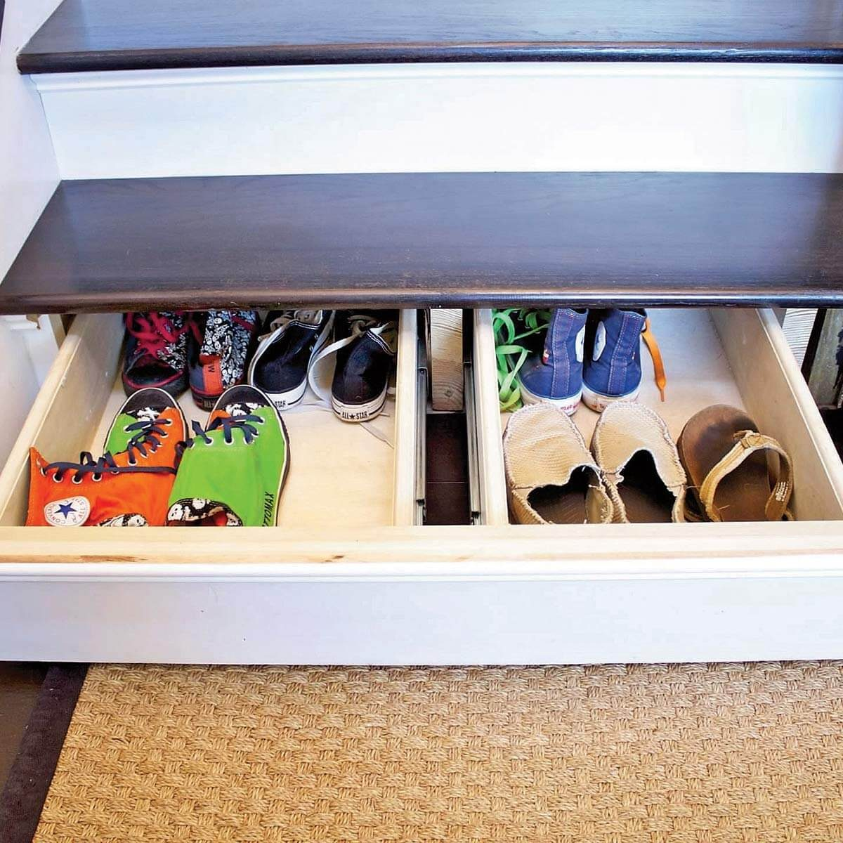 hidden staircase drawer