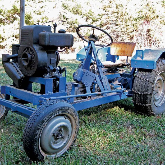 Garden Tractor Made of Junkyard Parts