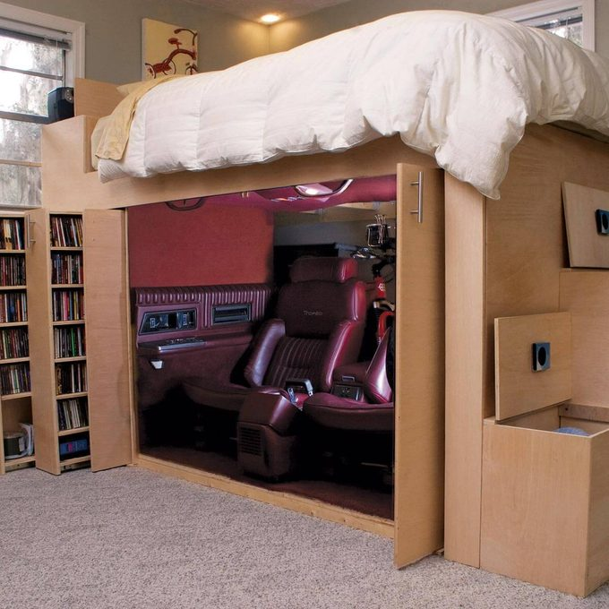 Loft bed and storage system