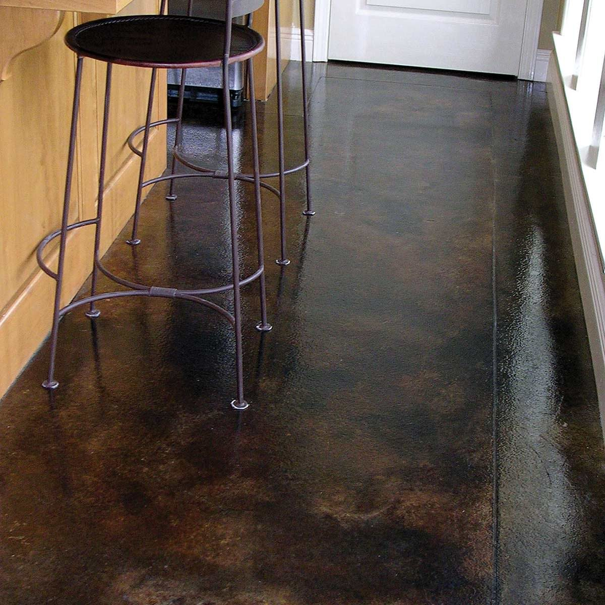 Concrete acid stained floors