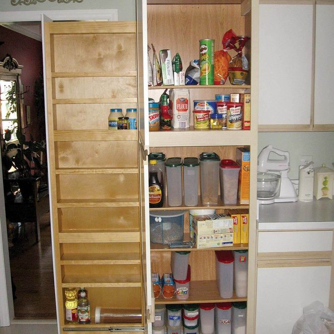 inside of kitchen cabinet rollout