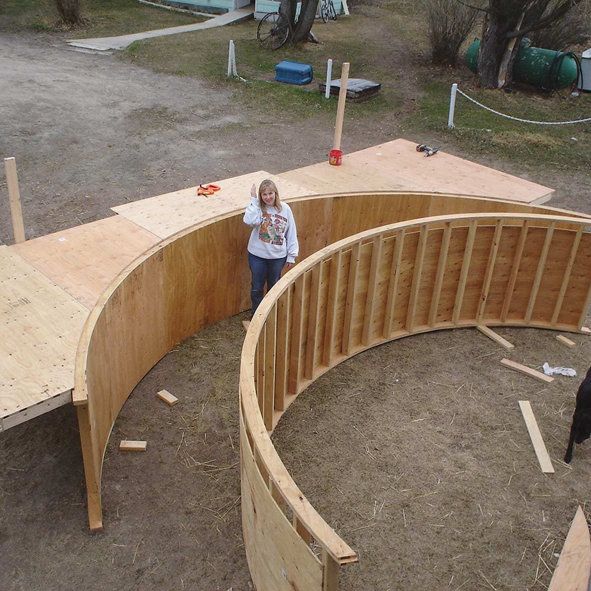 bridge plywood form