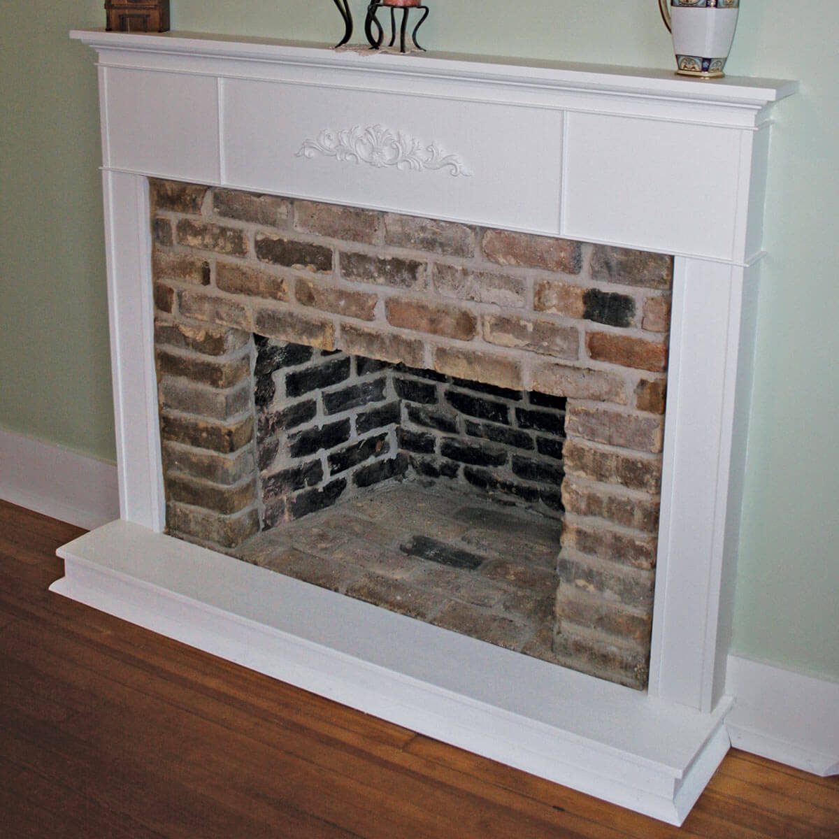 Hidden fireplace restored