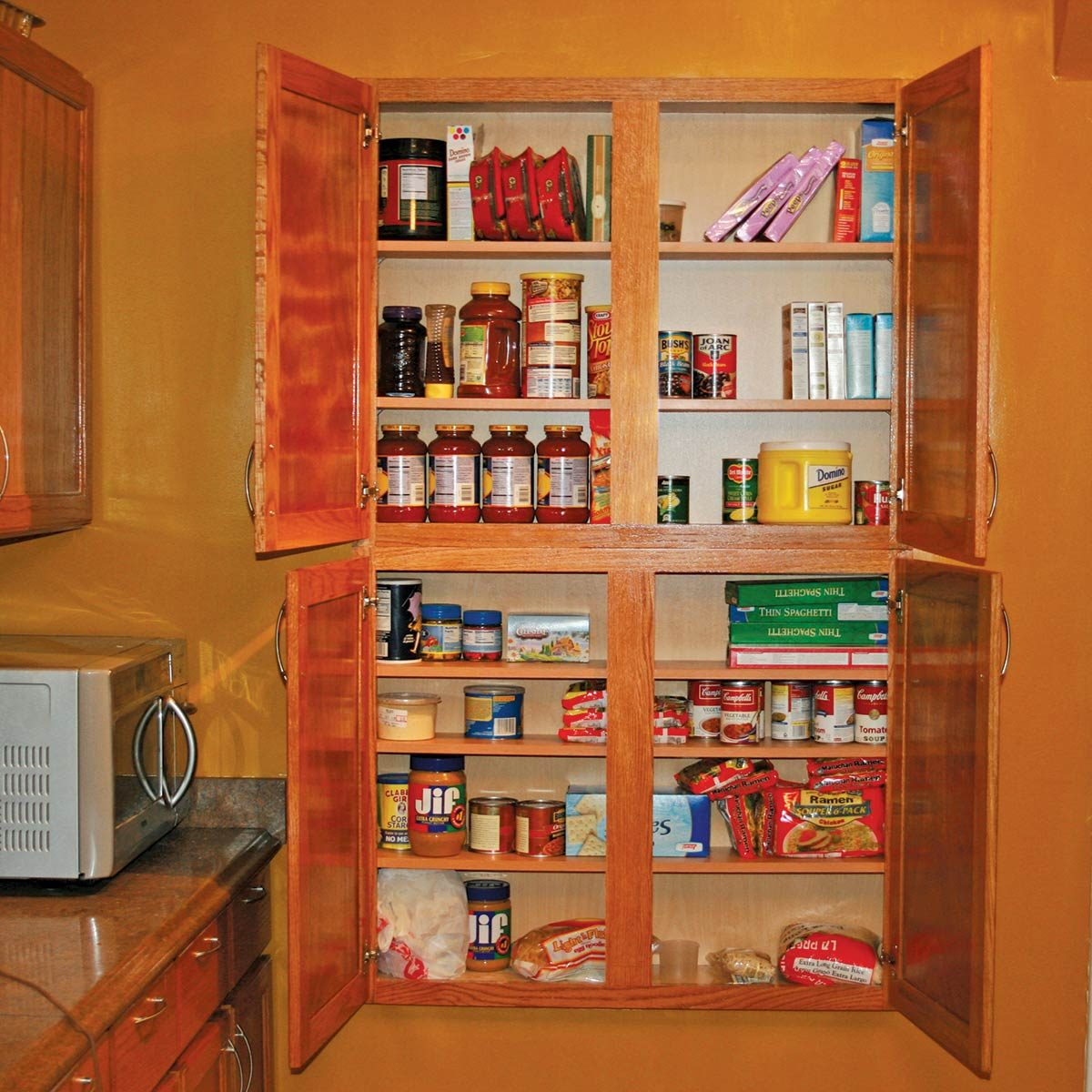 Interior of Shallow Wall Kitchen Cabinet