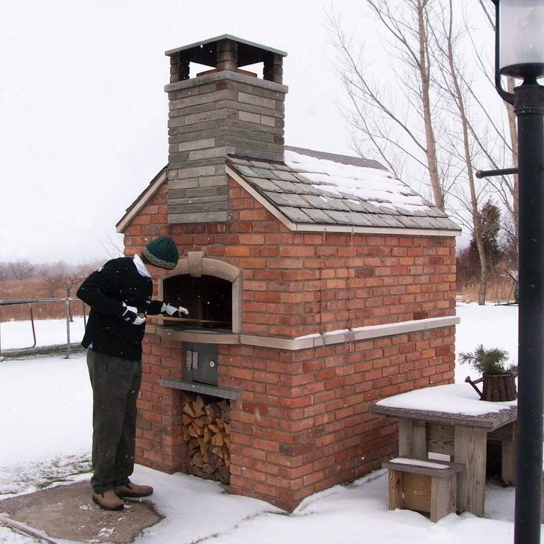traditional wood-fire oven