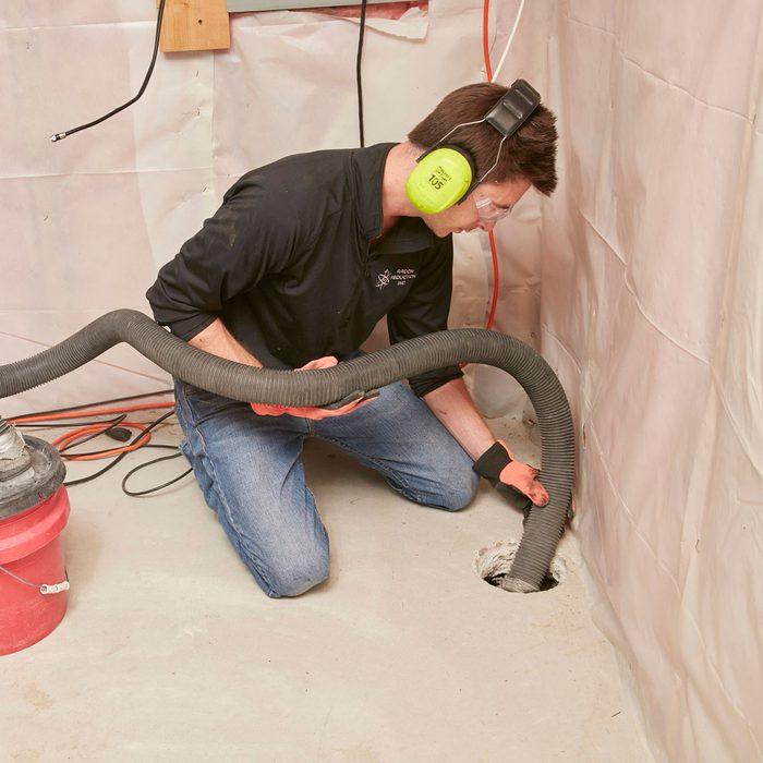 Make a suction pit