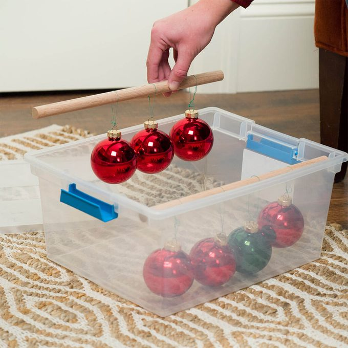 Dowel Ornament Storage
