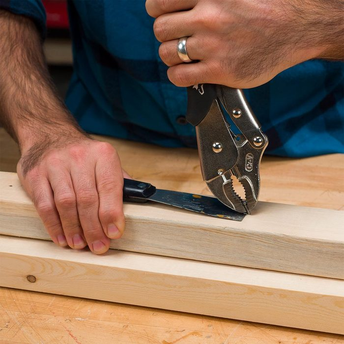 Vise-Grips to Pull Nails