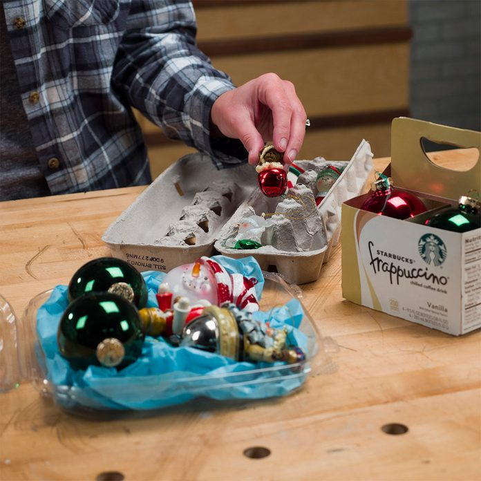 food containers for ornament storage