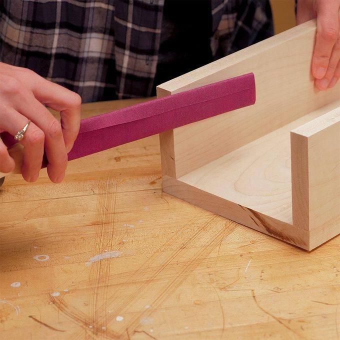 paint stick sandpaper tool