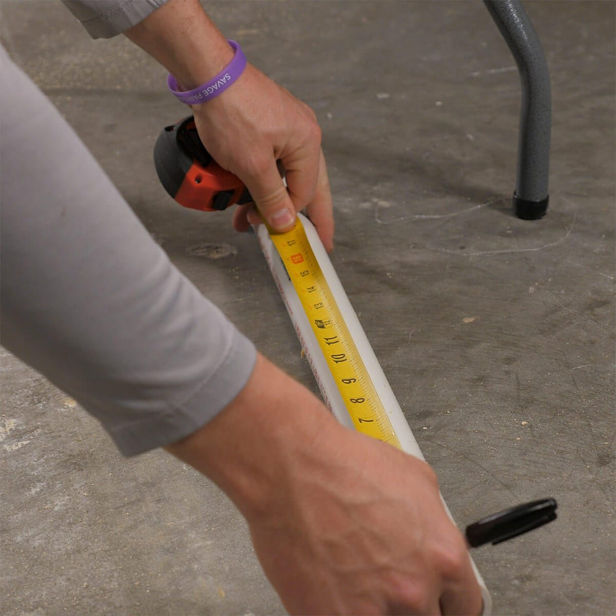measuring PVC for taller table legs