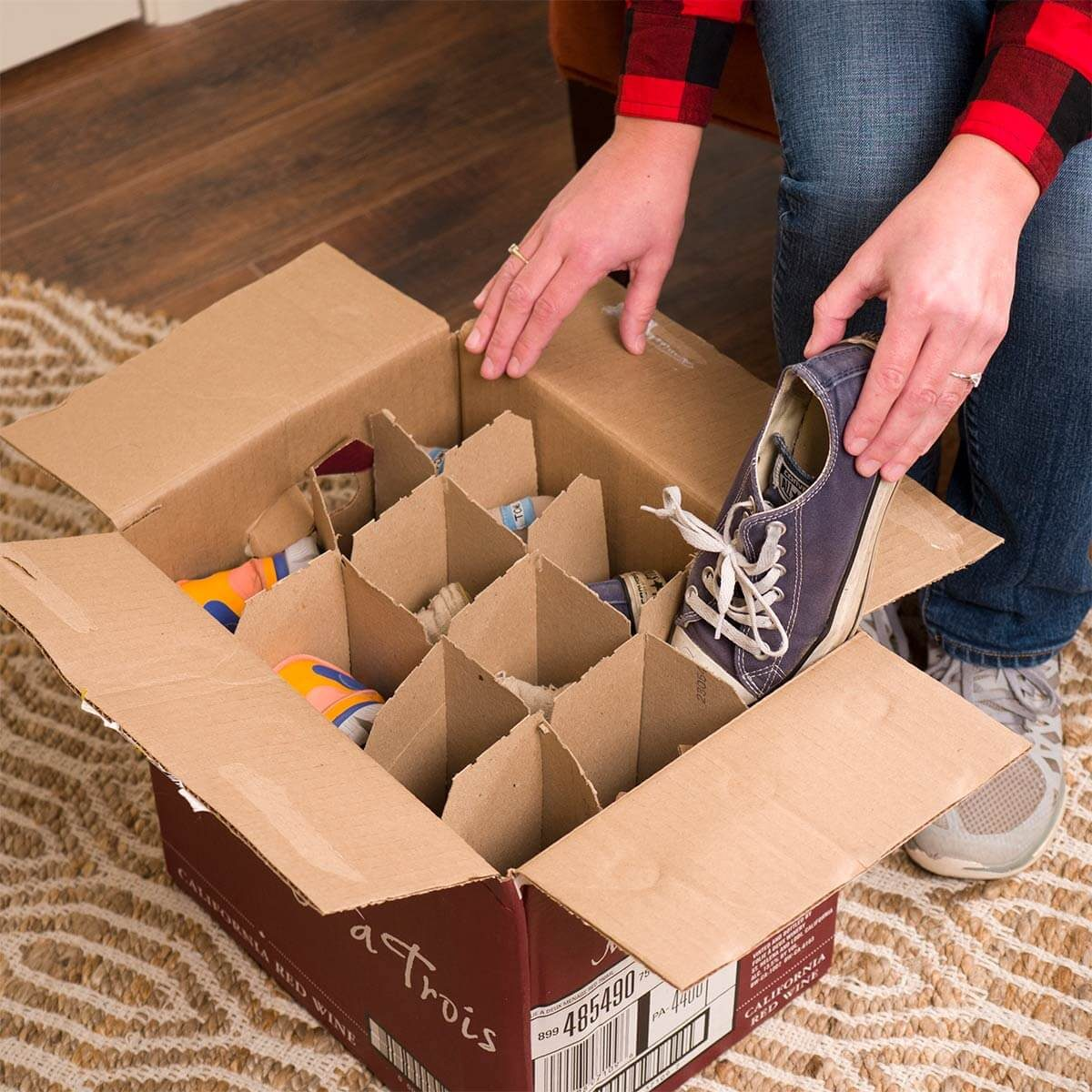 wine box shoe storage container
