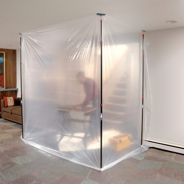 Isolation Chamber for drilling and cutting without spreading dust   Construction Pro Tips