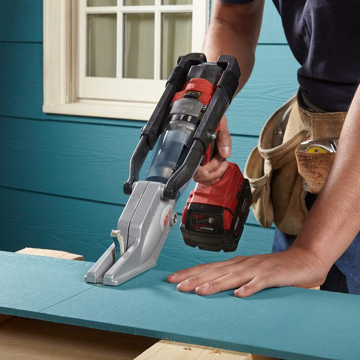 Cutting through fiber cement with a specialty tool   Construction Pro Tips
