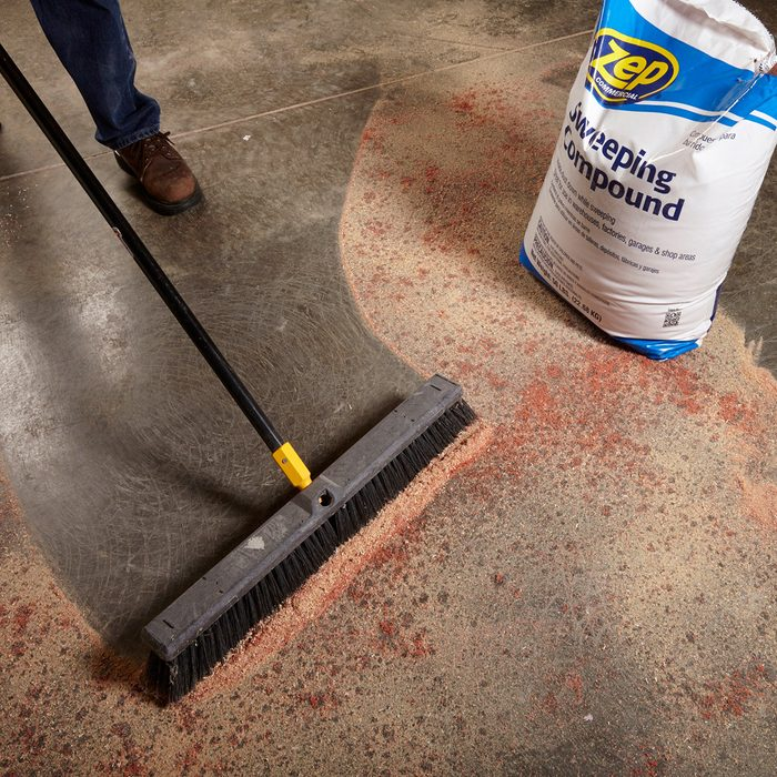 Sweeping up sweeping compound   Construction Pro Tips