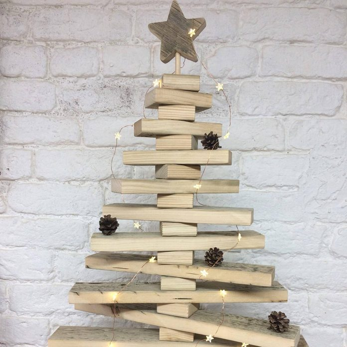 block tree christmas tree alternatives wood block christmas tree