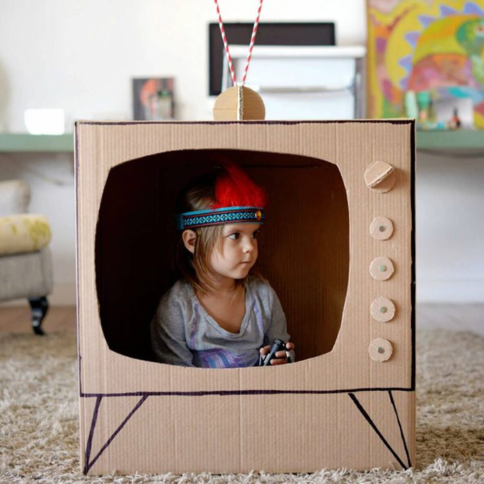 Build your own cardboard TV
