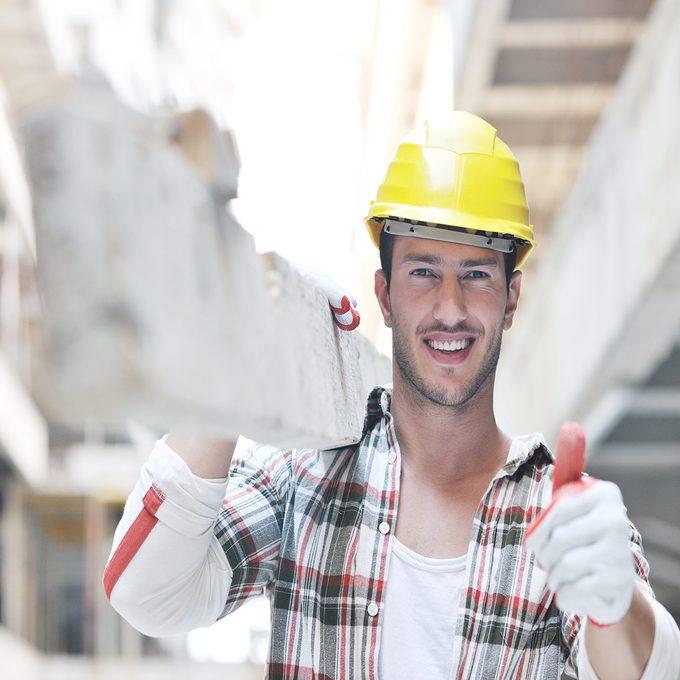 Happy Construction Worker