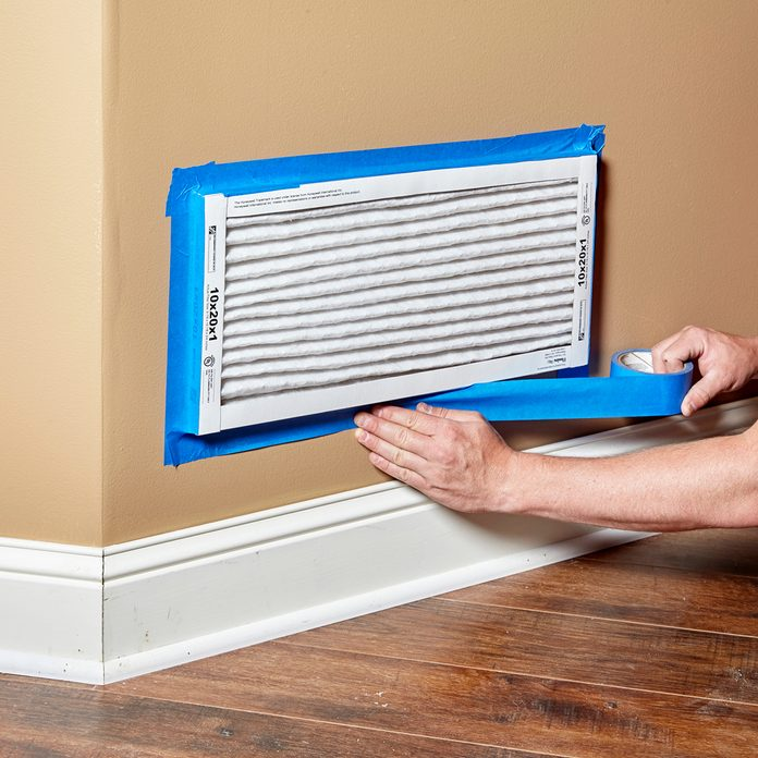 Covering vents with filters