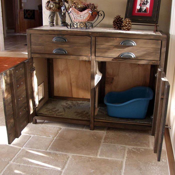 Cat Furniture: Cabinet Litter Box