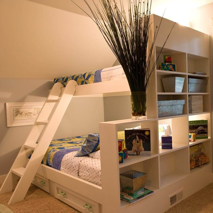 Bunk Beds with Shelves, Storage Rollouts