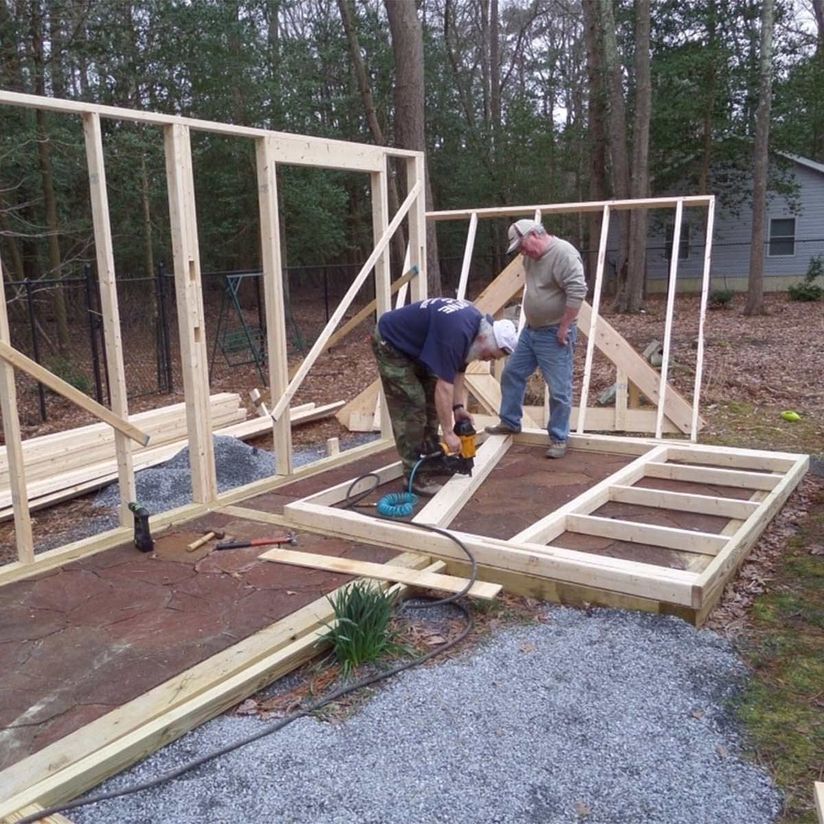 framing garden shed