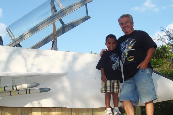 f-14 play set grandpa with grandson