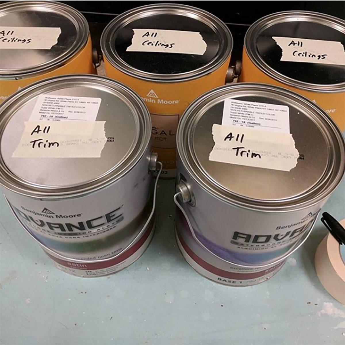 Label Paint Cans