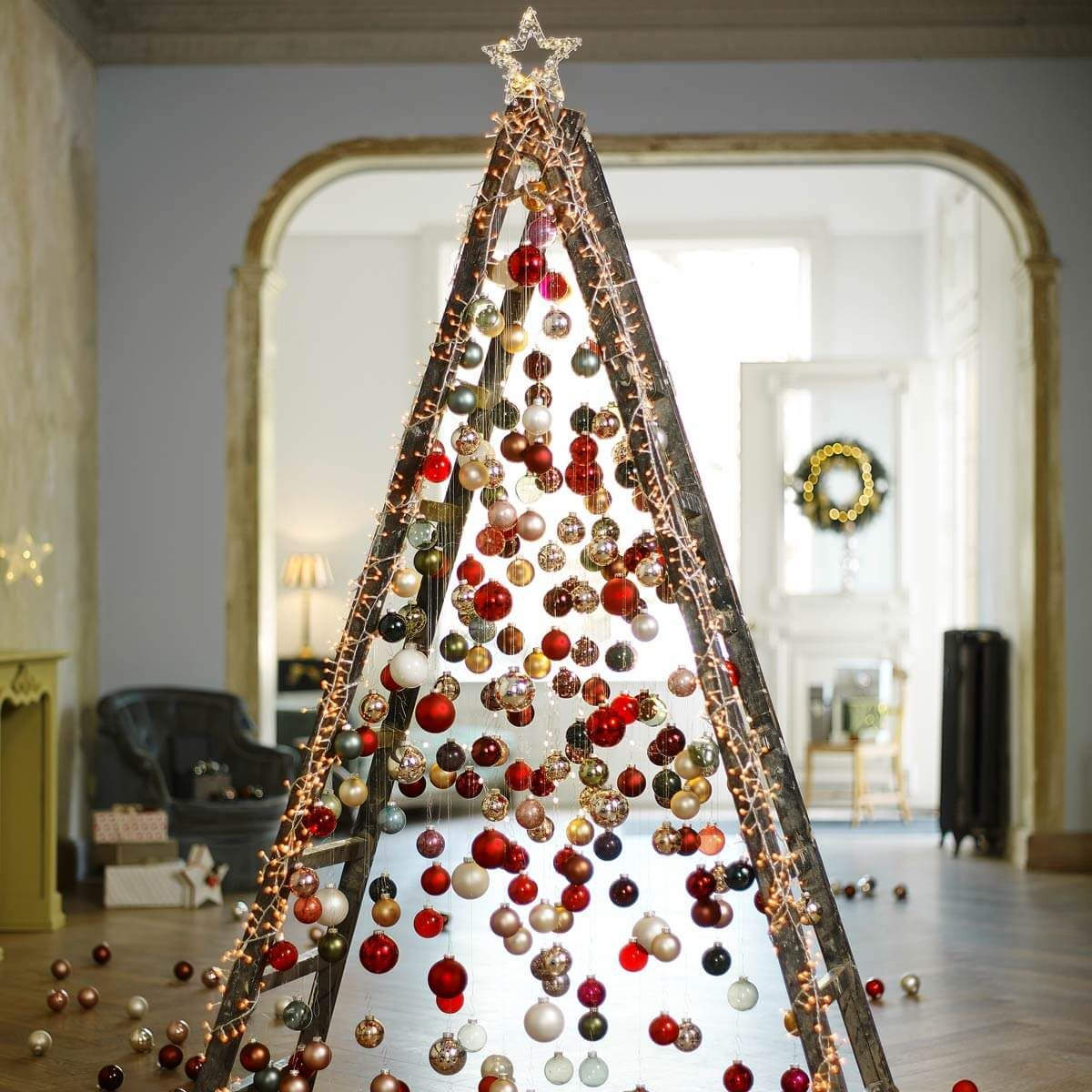 ladder christmas tree ornaments