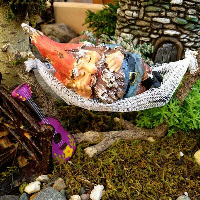 Snoozing Gnome Fairy Garden
