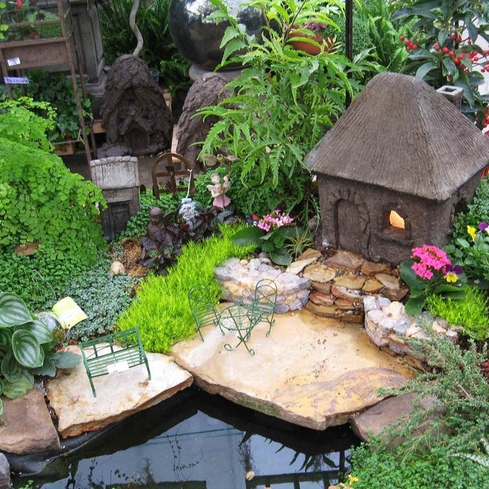 Backyard Pond Fairy Garden