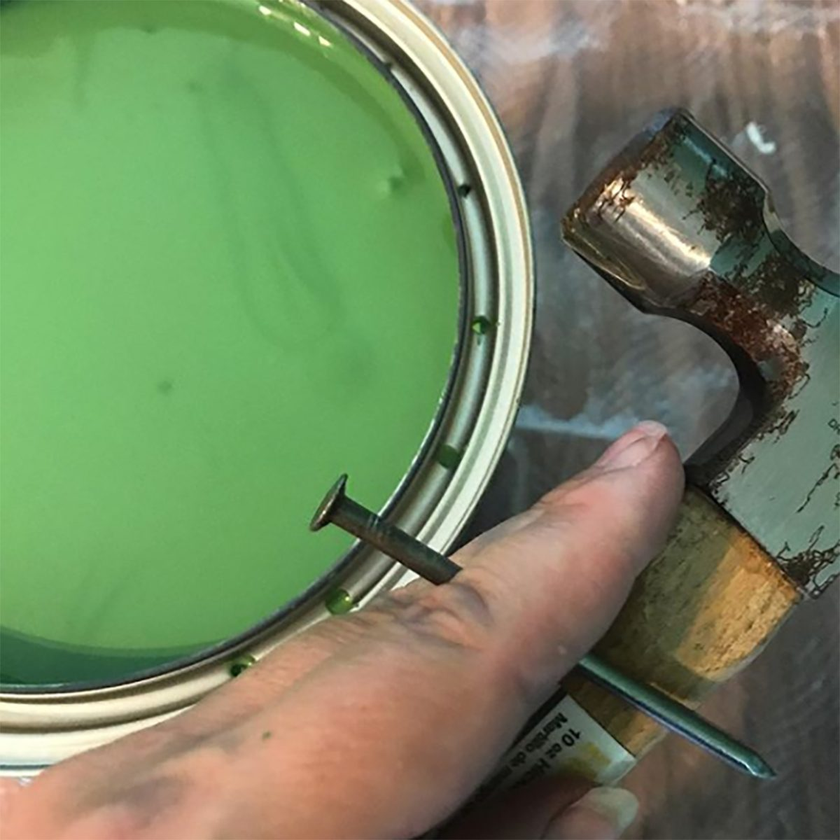 Keep paint lids clean