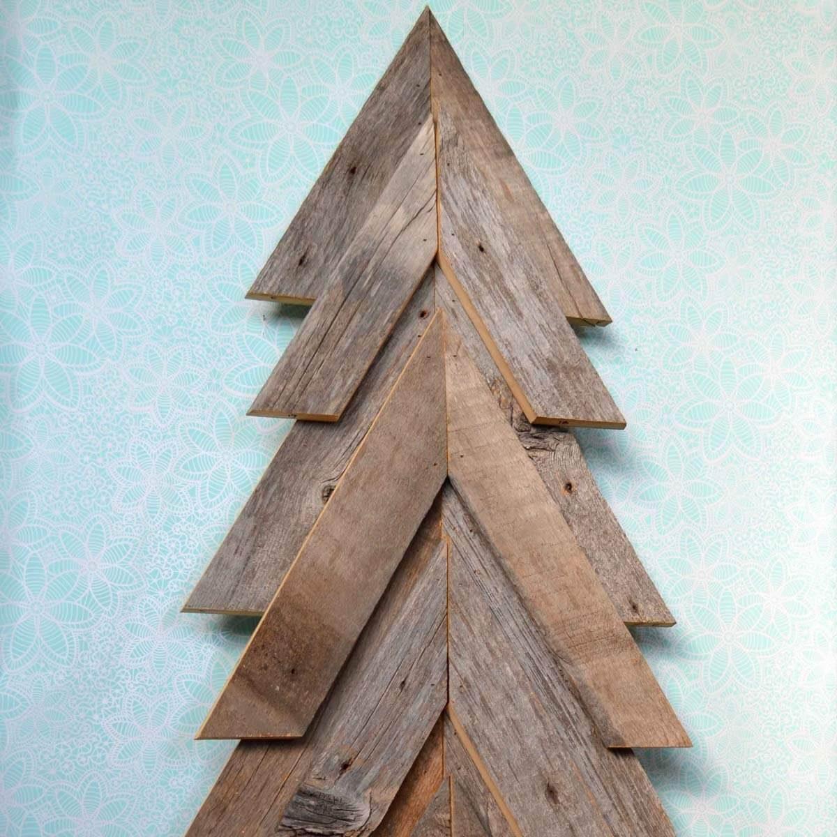 reclaimed-wood christmas tree