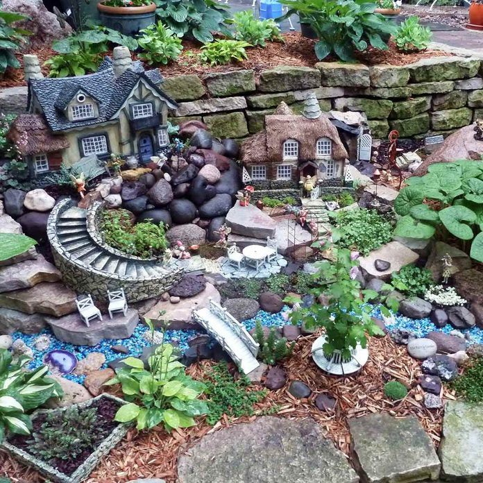 Retaining Wall Fairy Garden