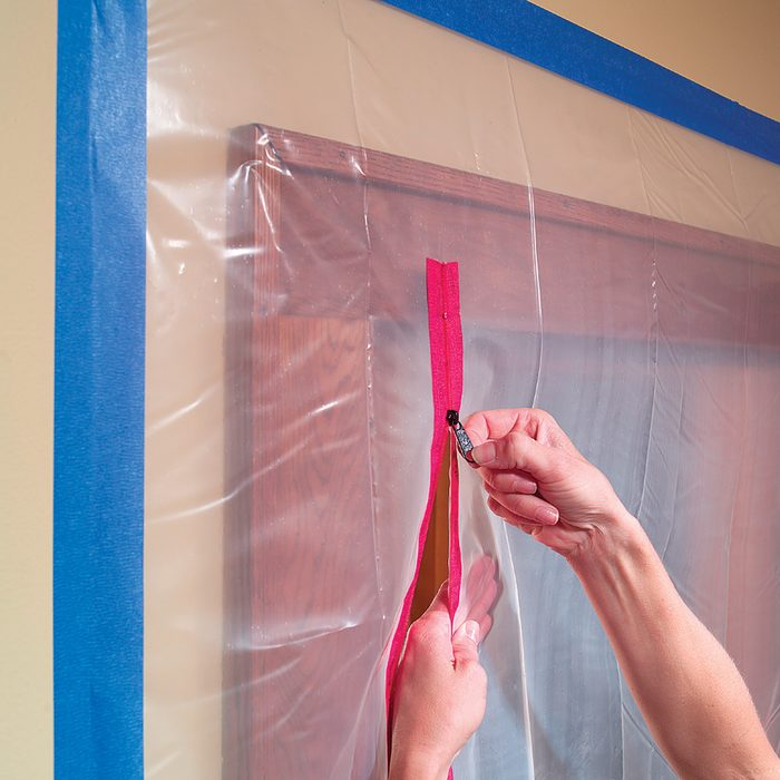 Seal off the room with zippers for poly   Construction Pro Tips